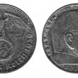 Silver old coinof 3th Reich, 2 mark — Stock Photo