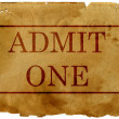 Ticket admit one — Stock Photo #2996188