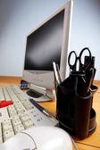 Keyboard and monitor — Stock Photo