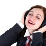 Girl in headphones — Stock Photo #3009719