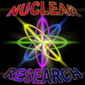 Nuclear research concept PIC — Stock Photo