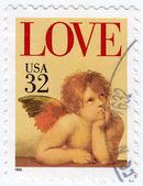 Engel aus dem bild sixtinische madonna — Stockfoto