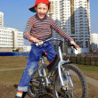 Boy Riding in Bicycle — Stock Photo