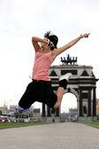 Woman modern ballet dancer — Stock Photo
