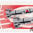 Stock Photo: Soviet exploration with Vostok space stations