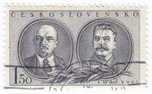 Lenin (L) and Stalin - Russian Communist Leaders — Stock Photo