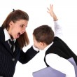 Hard relationship - mom and son (or teacher and boy) — Stock Photo #3789758