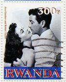 Ava Gardner and Robert Taylor in Mogambo — Stock Photo