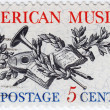 Stamp printed in USA shows  American Music - Stock Photo