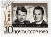 Cosmonauts Shonin (L) and Kubasov — Stock Photo