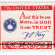 Francis Scott Key - And this be our motto, In God we trust — Stock Photo