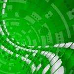 Vector tech green background — Stock Vector #3699828
