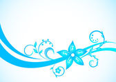 Vector blue floral background — Stock Vector