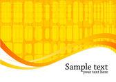 Vektor orange bakgrund med square — Stockvektor