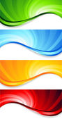 Vector set of abstract swirl banners — Stock Vector