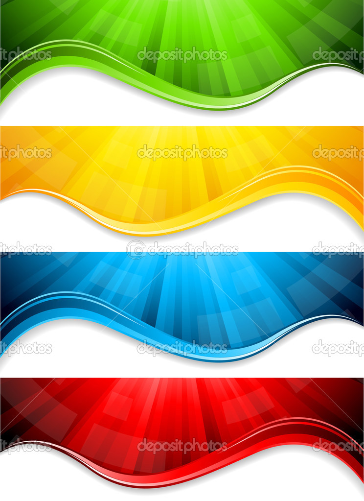 Vector collection abstract banners  Stock Vector #3757117