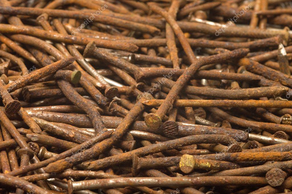 Rusty nails. — Stock Photo © kromeshnik - 142.6KB