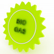 Stock Photo: Green star bio gas