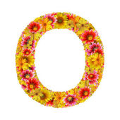 Flowers letter O — Stock Photo