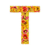 Flowers letter T — Stock Photo