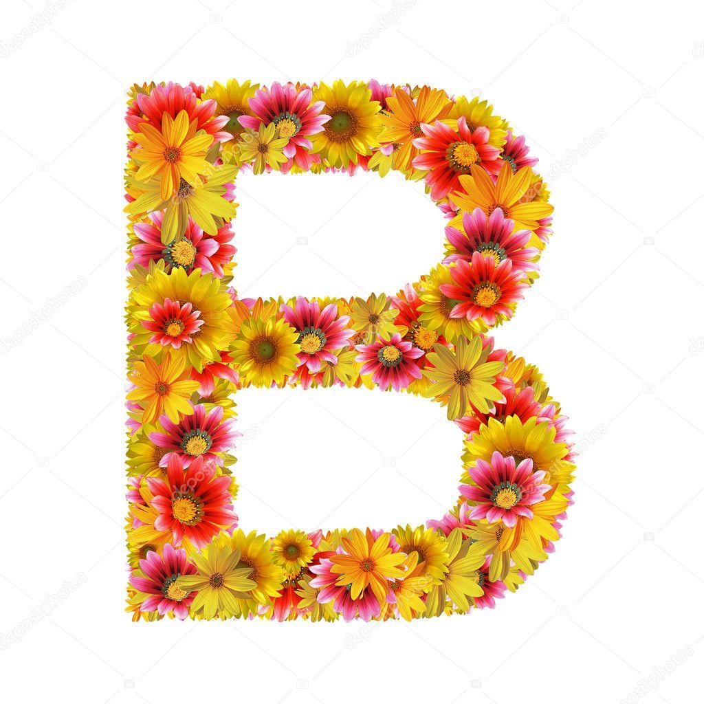 Буква а из цветов фото