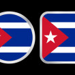 Cuba flag icon — Stock Vector