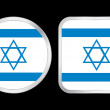 Israel flag icon — Stock Vector