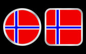 Norway flag icon — Stock Vector
