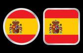 Het pictogram van de vlag van spanje — Stockvector