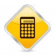 Stock Vector: Calculator yellow square icon