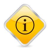 ícone quadrado amarelo info — Vetorial Stock