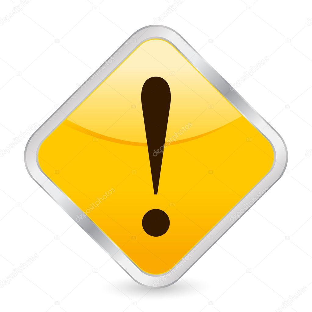 uitroepteken gele vierkante pictogram stockvector julydfg 3703989. Black Bedroom Furniture Sets. Home Design Ideas