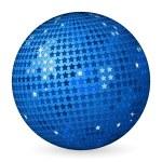 Абстрактный шар голубой звезды — Cтоковый вектор
