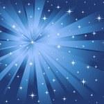 Вектор синий фон звезды и лучи — Cтоковый вектор