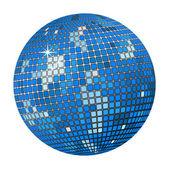 Blue disco ball — Stock Vector