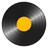 Gramophone record orange — Stock Vector