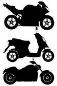 Motorcycles vector set — Stock Vector