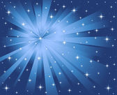 Vector blue background stars and rays — Stock Vector
