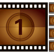 Film countdown — Image vectorielle