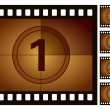 Film countdown - Stockvectorbeeld