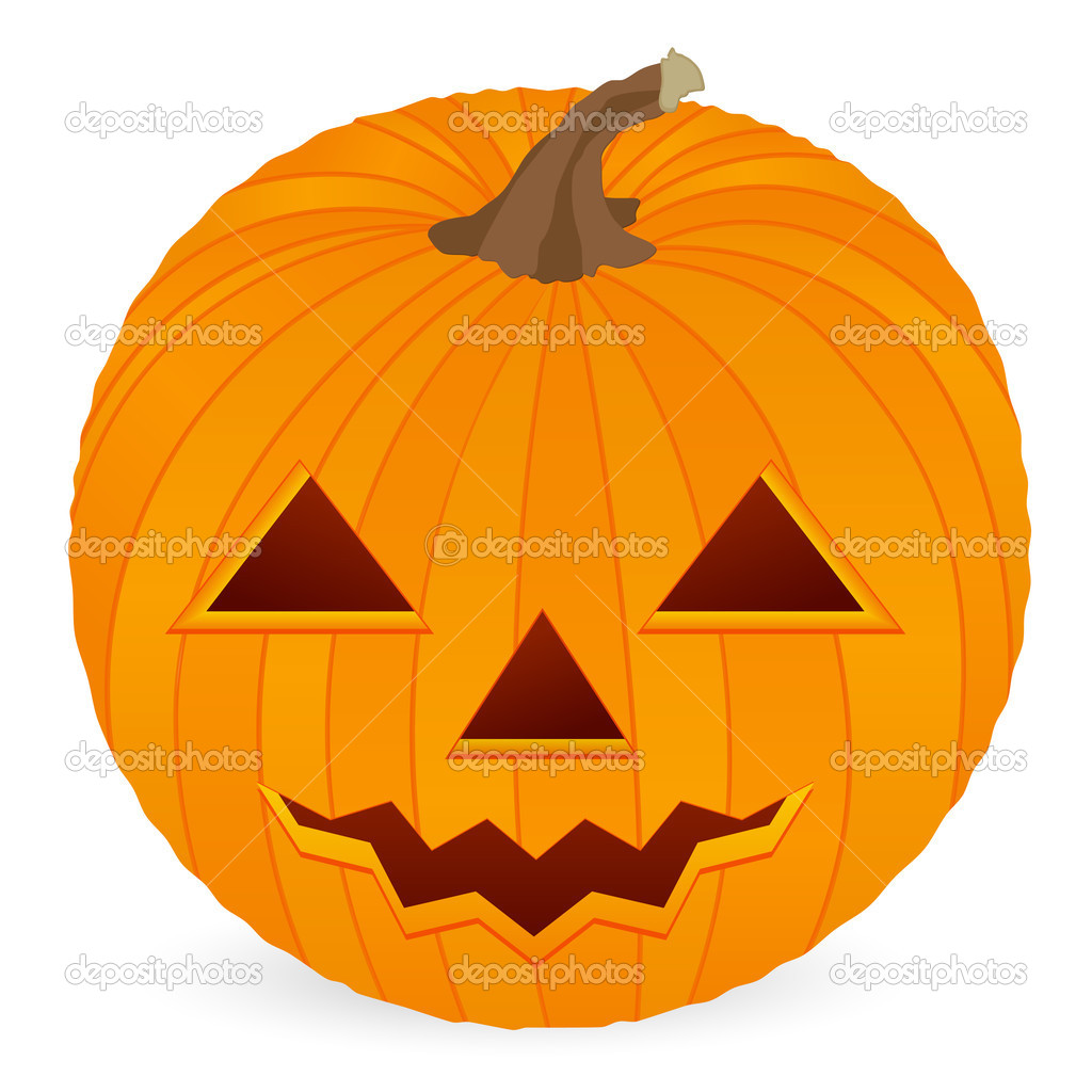 Halloween pumpkin isolated on a white background. Vector illustration. — Stock Vector #3861402