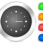 Computer icon clock — Stock Vector