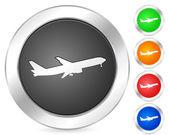 Computer icon aeroplane — Stock Vector