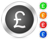 Computer icon british pound — Stockvector