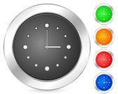 Datorns ikon klocka — Stockvektor