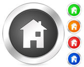 Computer icon house — Stock Vector