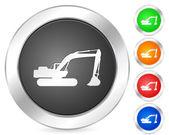 Computer icon excavator — Stock Vector