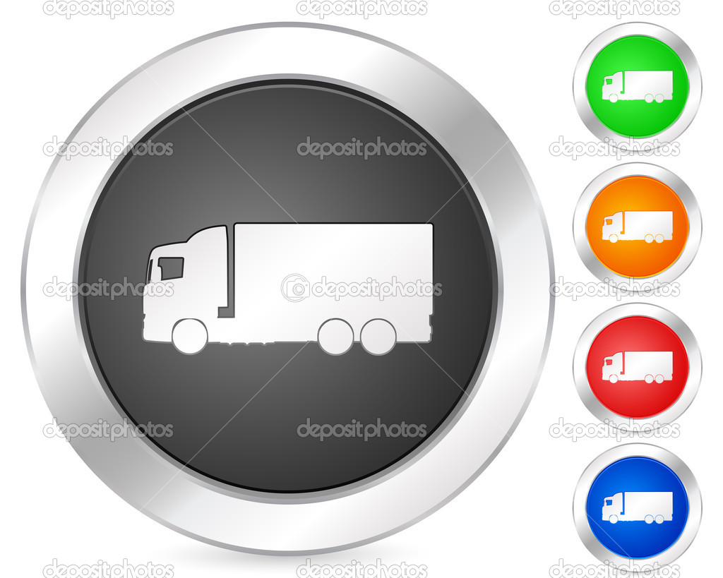 Computer icon truck set isolated on a white background. Vector illustration. — Stock Vector #3879171