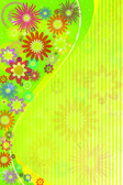 Abstract flowers background — Stockvektor