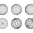 Globe elements-spheres - Stok Vektr